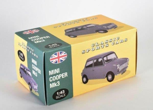 Atlas KL30 1/43 Scale Classic Sports Cars Mini Cooper S Mk3 - Yellow